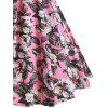 Women Retro Dress - PINK