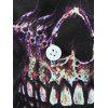 Skull Printed Button Up Shirt - WHITE