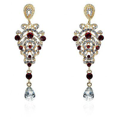 Baroque Style Rhinestone Stud Pendant Earrings