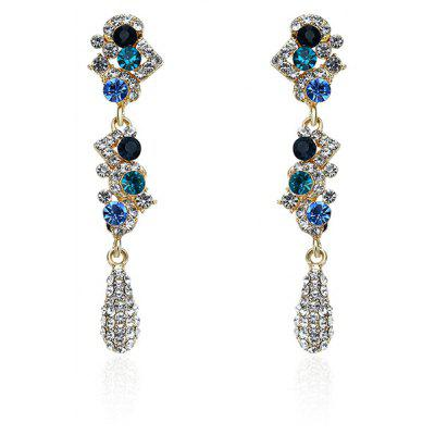 Rhinestone Sparkly Teardrop Earrings