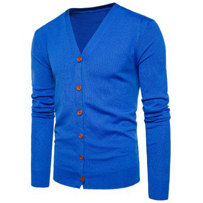 Buy ROYAL XL V Neck Knitting Button Up Cardigan for $20.92 in GearBest store