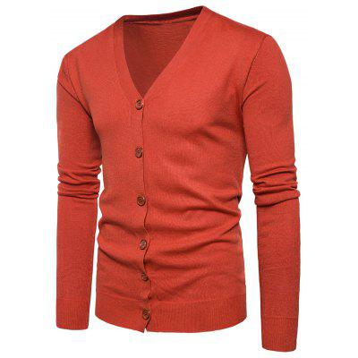 Buy JACINTH XL V Neck Knitting Button Up Cardigan for $20.92 in GearBest store