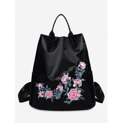 Buy BLACK Nylon Embroidered Backapck for $21.23 in GearBest store