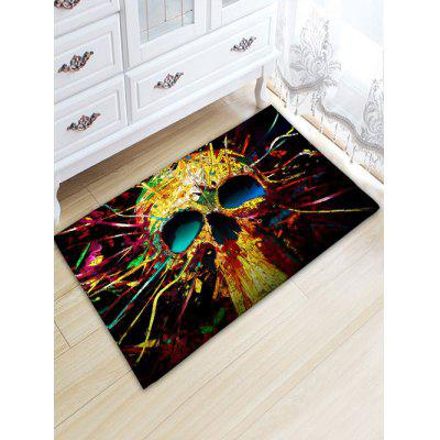 Colorful Skull Skidproof Flannel Area Rug