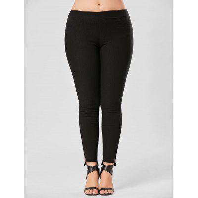 Plus Size Elastic Waist Pencil Pants