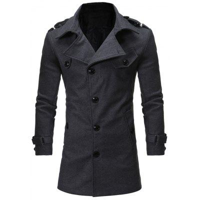 Colcha de colcha Epaulet Single Breasted Woolen Coat