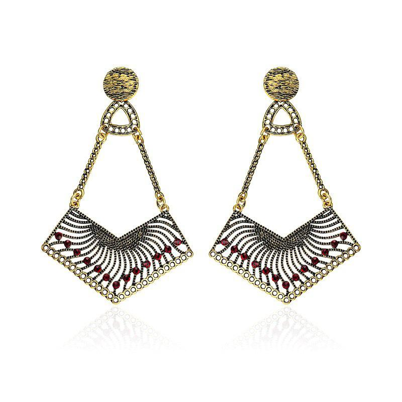 Zigzag Stud Pendant Earrings