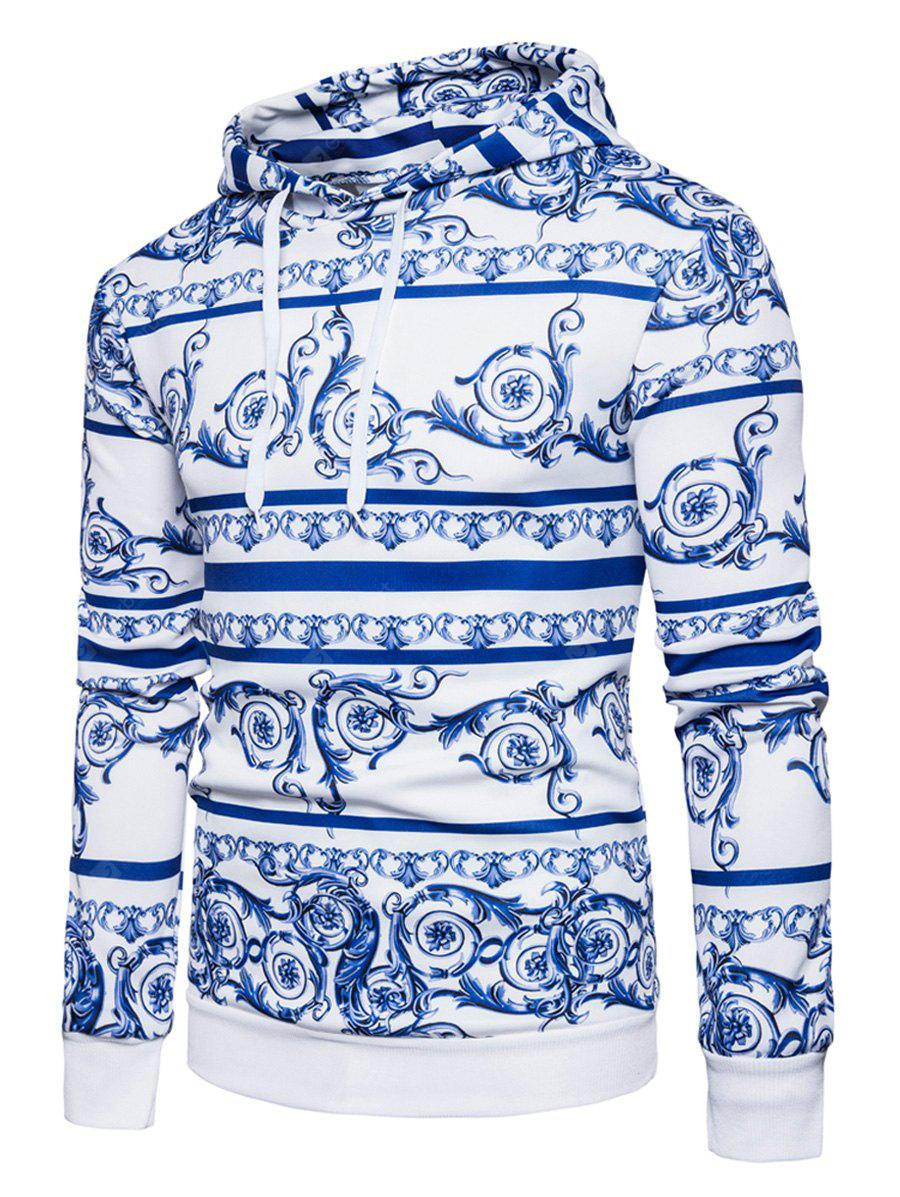 Chinoiserie Hooded Florals Print Hoodie