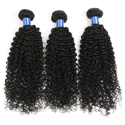 1Pc Long Jerry Curl Indian Indian Human Hair Weave