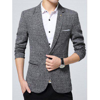Lapel Edging Metal Detail Woolen Blazer