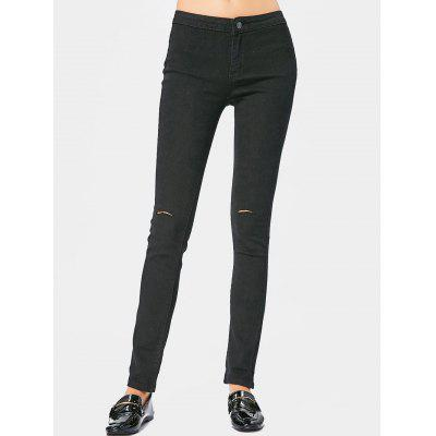 Buy BLACK 2XL Ripped High Waisted Pants for $22.00 in GearBest store
