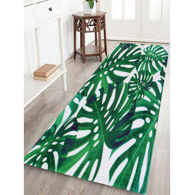 Buy GREEN Water Absorbent Palm Leaf Pattern Bath Mat for $13.99 in GearBest store