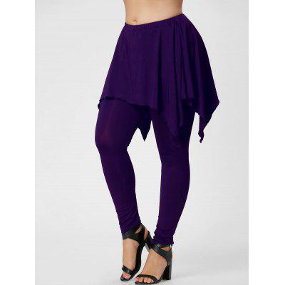 Plus Size Handkerchief Skirted Pants