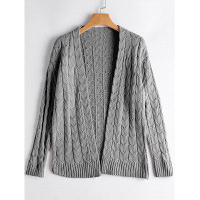 Cable Knit Drop Shoulder Cardigan