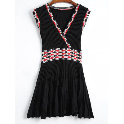 Graphic Knitted Dress