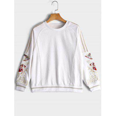 Fish Embroidered Gilding Sweatshirt