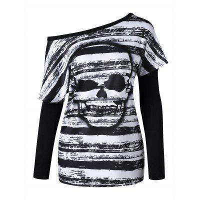 Skull T-shirt with Oversleeves
