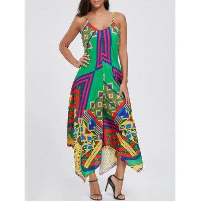 Printed Asymmetric Cami Palazzo Jumpsuit 221311301