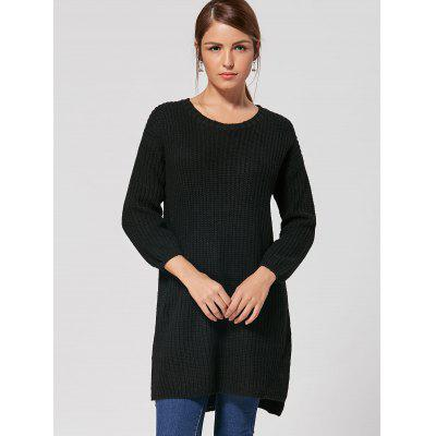 High Low Slit Knit DressSweater Dresses<br>High Low Slit Knit Dress<br><br>Dresses Length: Mini<br>Elasticity: Elastic<br>Material: Polyester<br>Neckline: Round Collar<br>Occasion: Causal<br>Package Contents: 1 x Dress<br>Pattern Type: Solid Color<br>Season: Fall, Spring<br>Silhouette: Straight<br>Sleeve Length: Long Sleeves<br>Style: Casual<br>Weight: 0.6000kg<br>With Belt: No