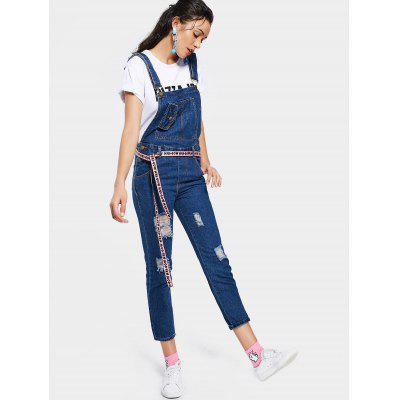 Ripped Pockets Denim OverallsJumpsuits &amp; Rompers<br>Ripped Pockets Denim Overalls<br><br>Fit Type: Straight<br>Material: Jeans, Polyester<br>Package Contents: 1 x Overalls<br>Pattern Type: Solid<br>Style: Fashion<br>Weight: 0.6700kg<br>With Belt: No