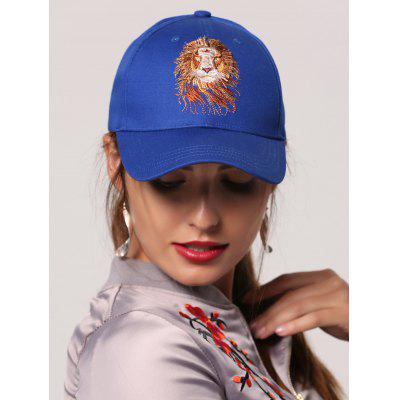 Lion Head Embroidery Baseball Hat