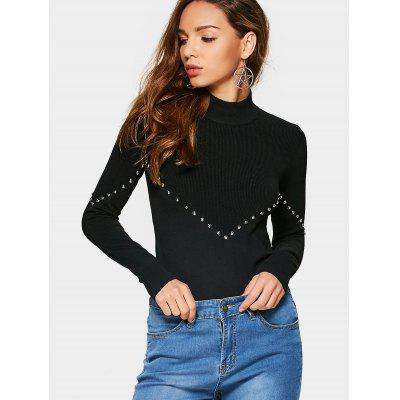 High Neck Metal Buttoned Layering Knitwear