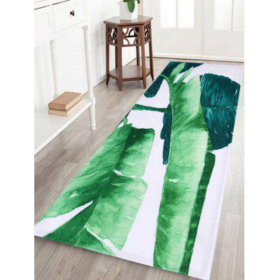 Non Slip Fleece Watercolor Leaf Area Rug
