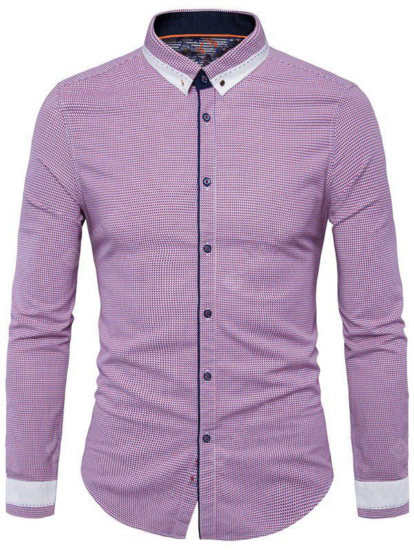 Button Down Long Sleeve Vertigo Shirt
