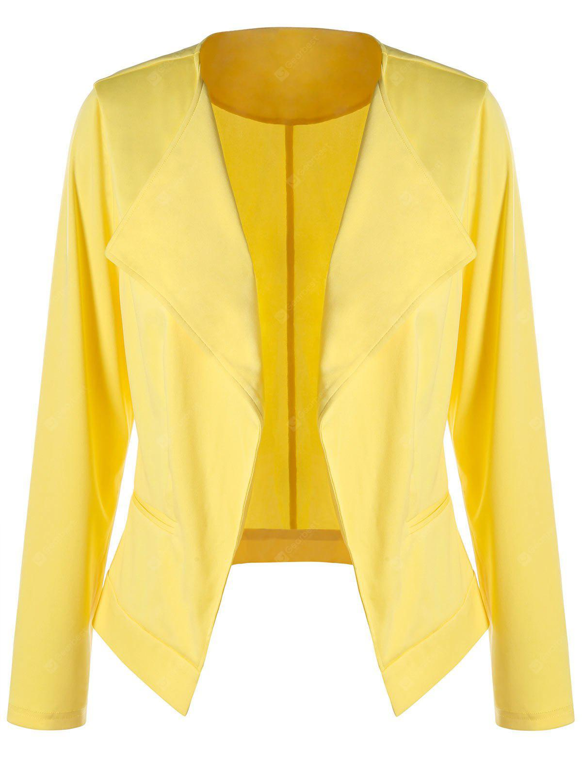 Plus Size Slim Waterfall Blazer