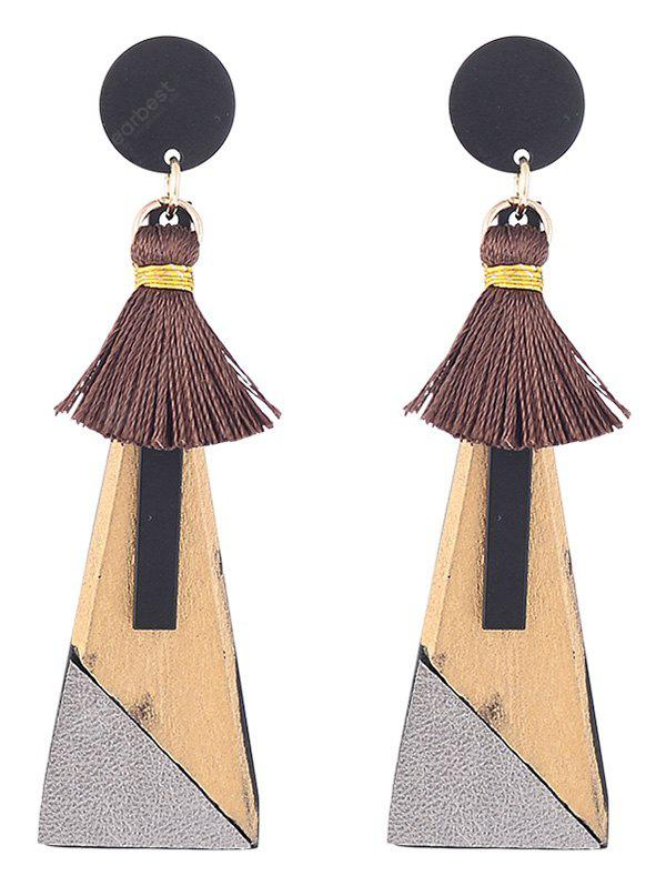 Tassels Triangle Pendant Drop Earrings