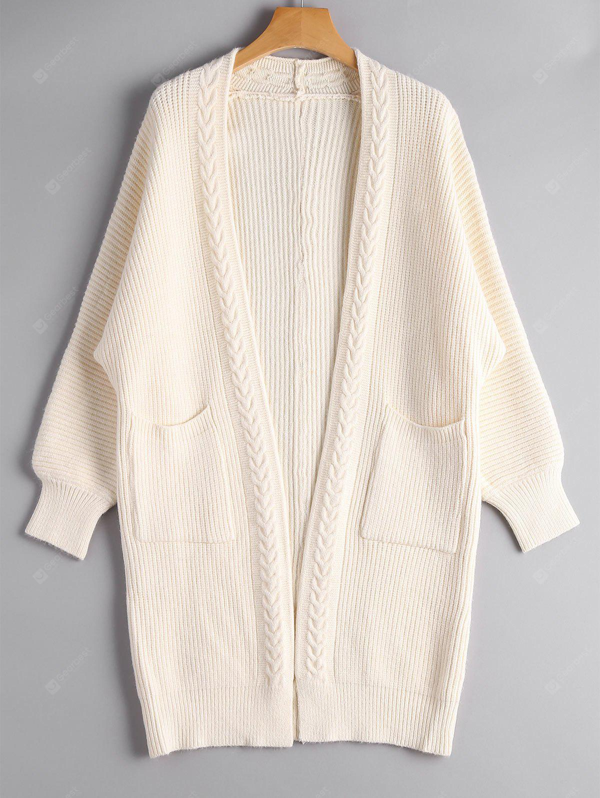 Open Front Pockets Long Cardigan
