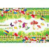 Mushrooms Balloon Fence Decorated Wall Sticker - VERDE
