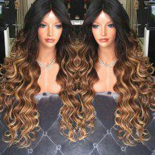 Long Middle Part Shaggy Wavy Synthetic Wig