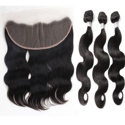 3Pcs / Lot 5A Remy Long Free Part Body Wave Indian Human Hair Weaves