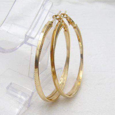 Metal Alloy Circle Hoop Earrings