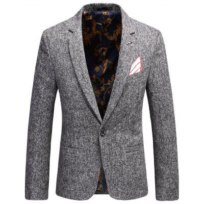 Brooch Design Faux Handkerchief Blazer