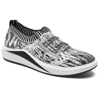 Buy GRAY Lace Up Flyknit Casual Shoes for $35.87 in GearBest store