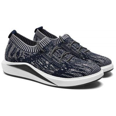 Buy BLUE Lace Up Flyknit Casual Shoes for $35.87 in GearBest store