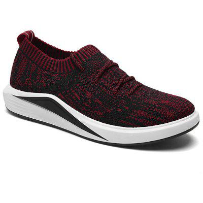 Buy RED Lace Up Flyknit Casual Shoes for $35.87 in GearBest store