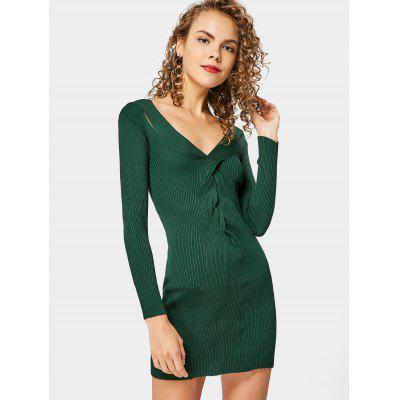 Twisted Knitted Dress