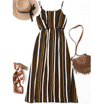 Stripes Lined Casual Maxi Dress