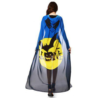 Chiffon Halloween bruja Element Festival Hooded Cape