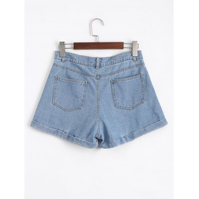 High Waisted Floral Embroidered Denim ShortsShorts<br>High Waisted Floral Embroidered Denim Shorts<br><br>Closure Type: Zipper Fly<br>Embellishment: Embroidery<br>Fit Type: Regular<br>Front Style: Flat<br>Material: Cotton, Jeans<br>Package Contents: 1 x Shorts<br>Pattern Type: Floral<br>Style: Fashion<br>Waist Type: High<br>Weight: 0.3700kg<br>With Belt: No