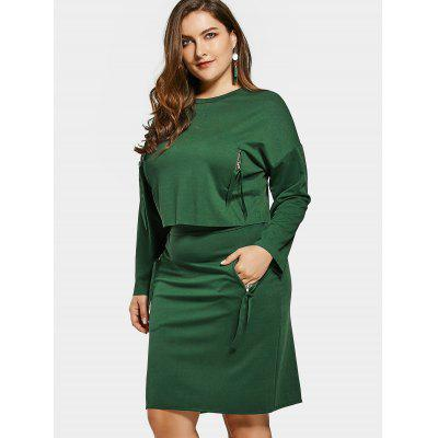 Plus Size Top and Pencil Skirt