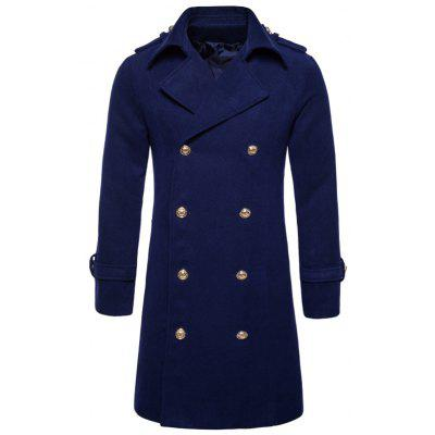 Turndown Collar Double Breasted Peacoat