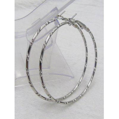 Big Bamboo Hoop EarringsEarrings<br>Big Bamboo Hoop Earrings<br><br>Earring Type: Hoop Earrings<br>Gender: For Girls,For Women<br>Metal Type: Alloy<br>Package Contents: 1 x Earrings(Pair)<br>Shape/Pattern: Round<br>Style: Hipster<br>Weight: 0.0600kg