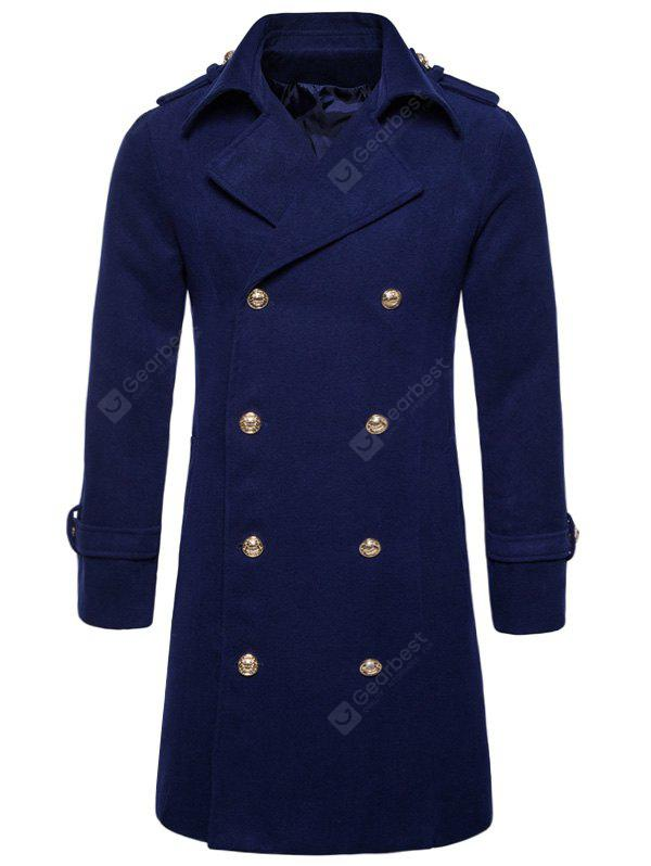 Colar Turndown Double Breasted Peacoat