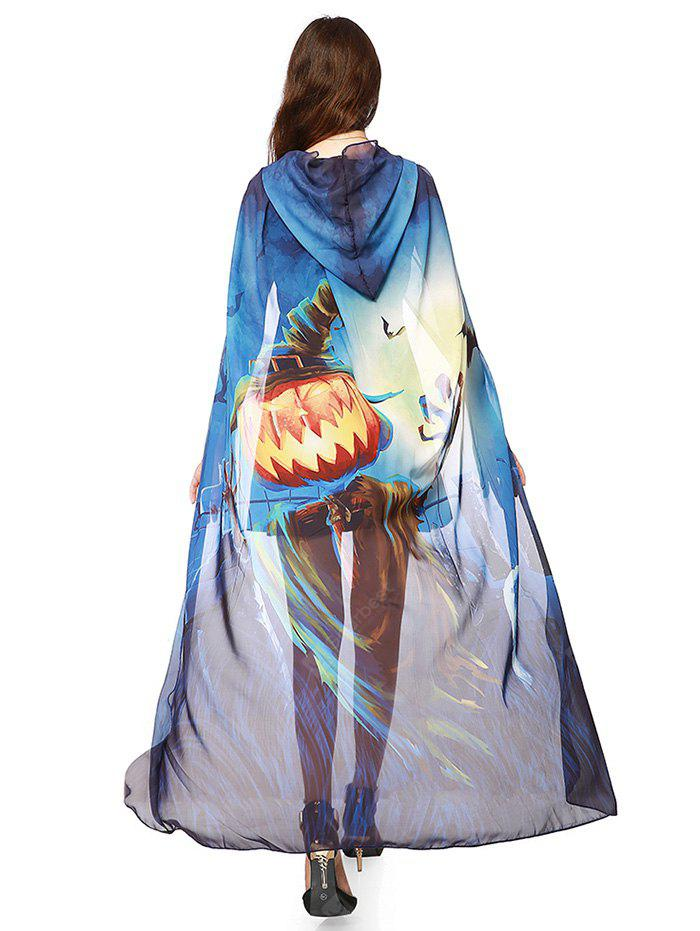 Chiffon Halloween Witch Element Festival Hooded Cape