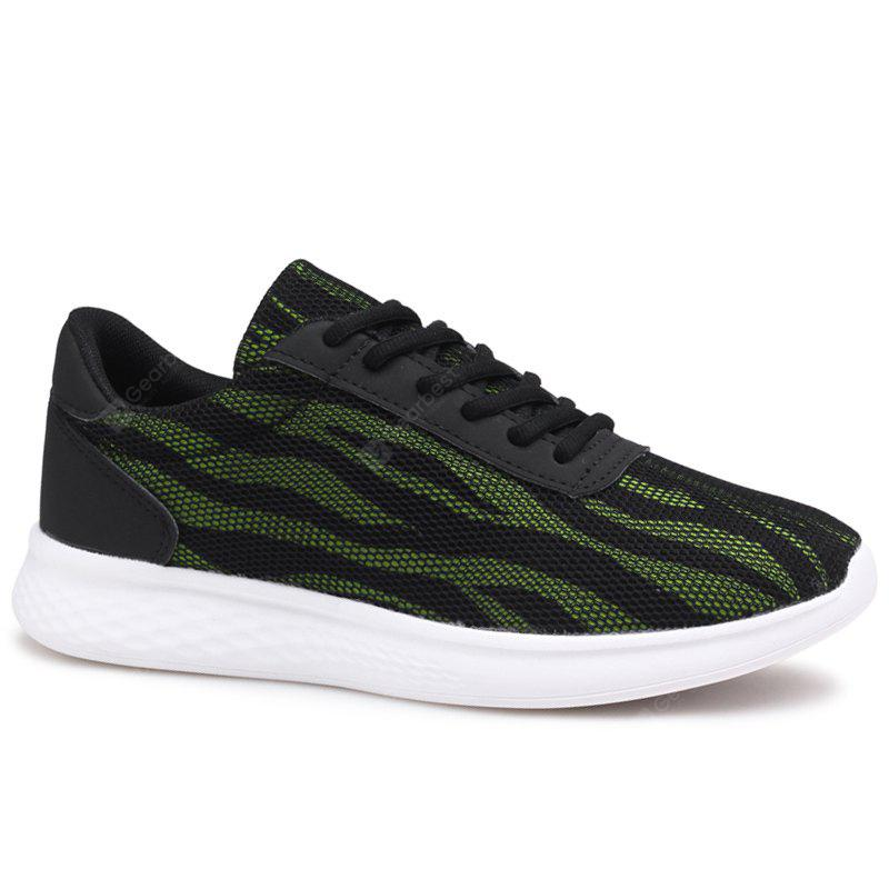 BLACK Mesh Color Block Tie Up Sneakers