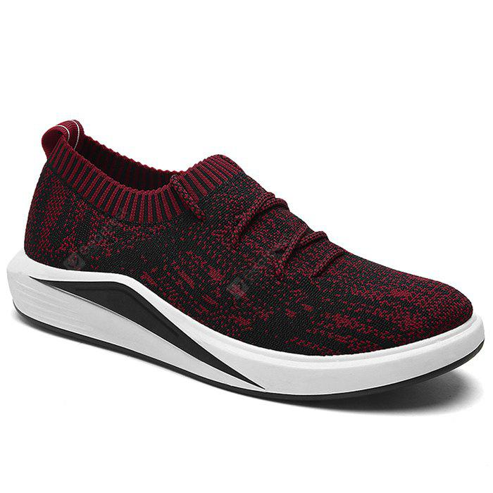 RED Lace Up Flyknit Casual Shoes
